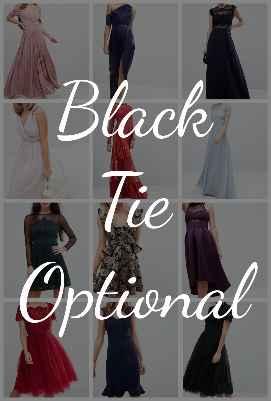 Black Tie Optional Cocktail Dresses
