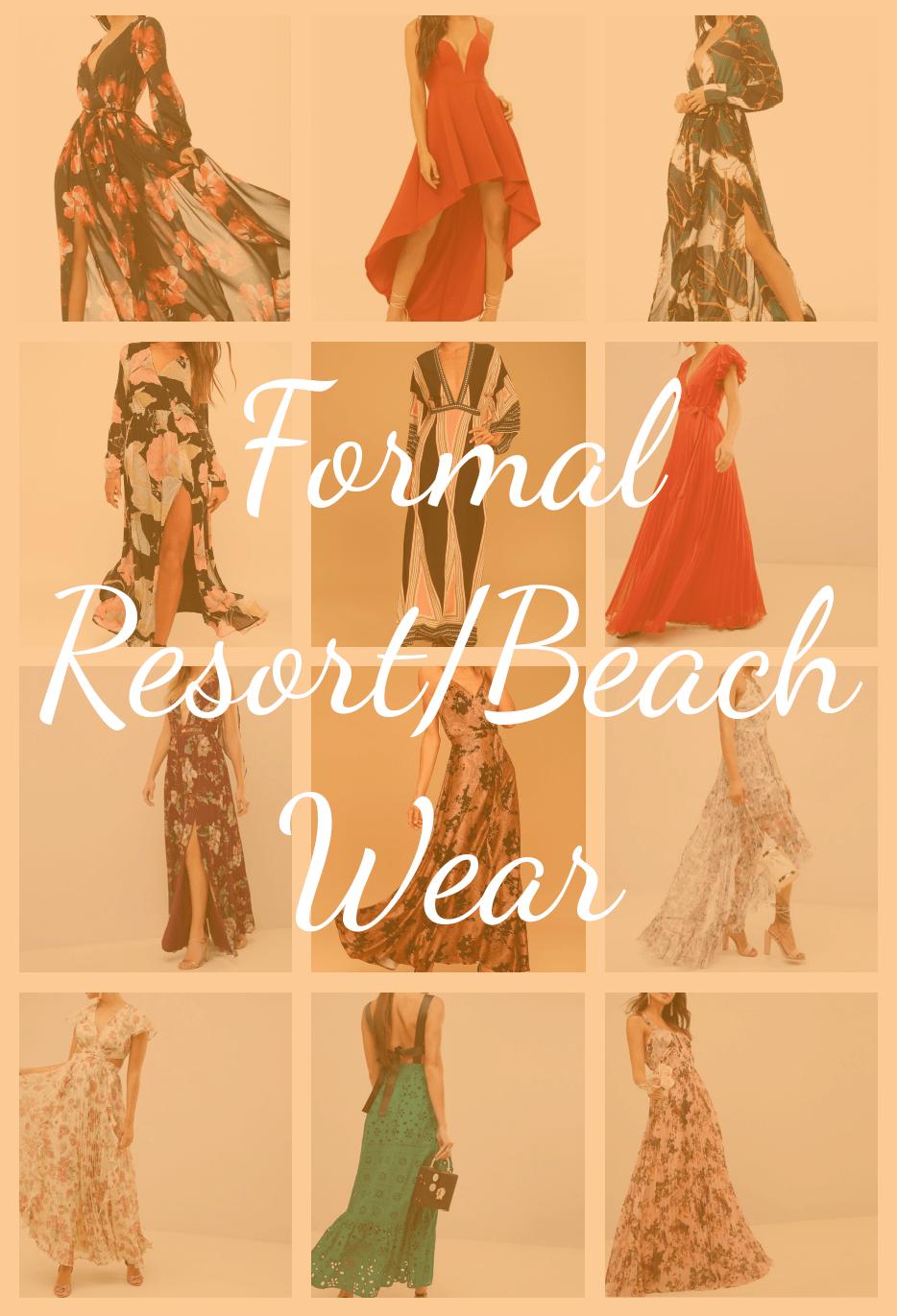 Resort and Beach Dresses